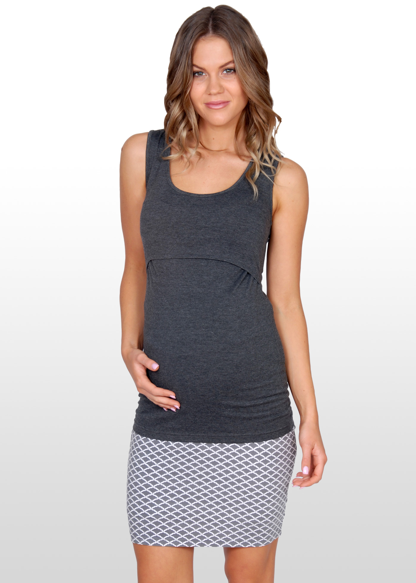 The cutest maternity skirts online the maternity sale blog scallop print maternity skirt ombrellifo Image collections