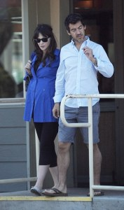 Zooey Deschanel In Maternity Leggings