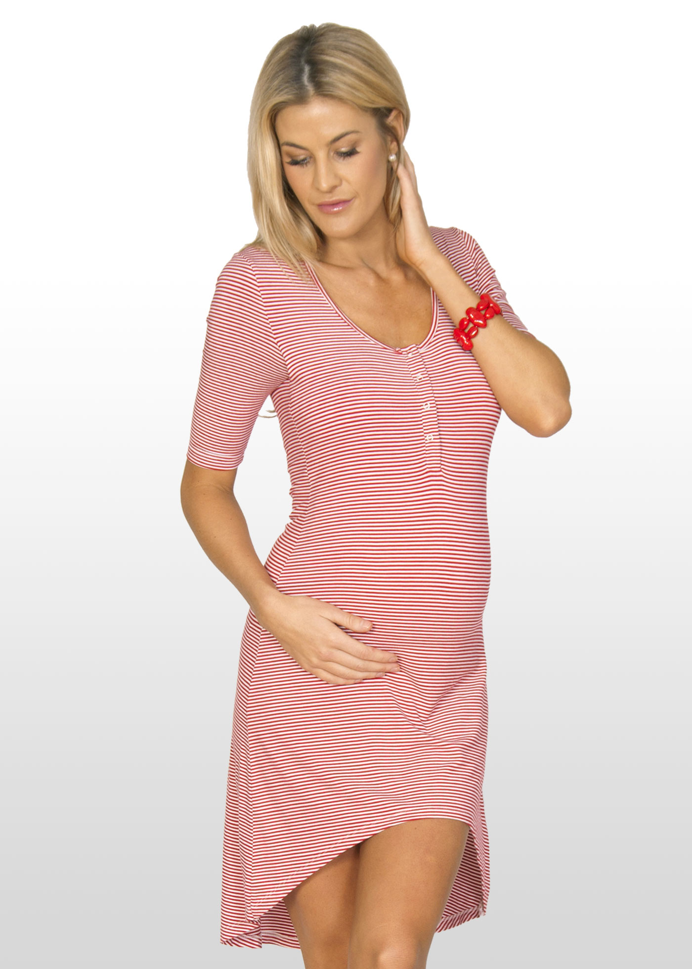 Striped Pregnancy Dress