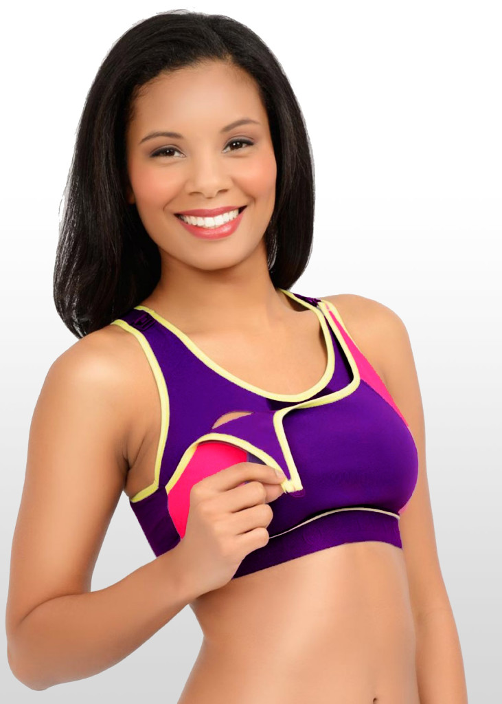 Funky Maternity Sports bra with easy nursing access is now only $33.