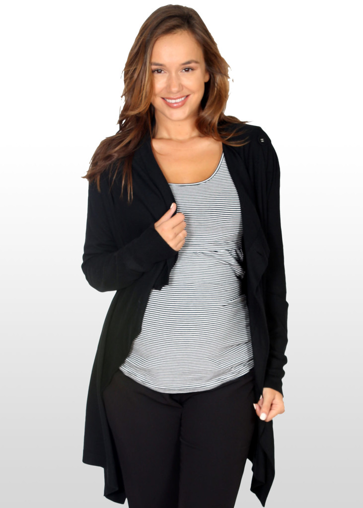 4-way Maternity & Nursing cardigan in black, $71.