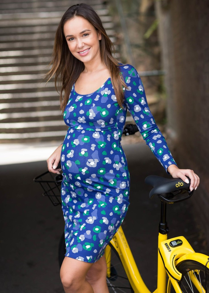 Add a dose of colour to winter wardrobes with this graphic floral maternity & nursing dress. $68