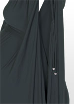 Charcoal one-shoulder dress