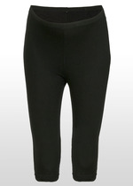 3/4 black maternity leggings