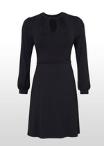 Black Keyhole Nursing Dress