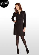 Black Keyhole Maternity/ Nursing Dress