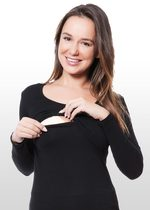 Black Long Sleeve Nursing Top