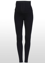 Black fold-down Leggings
