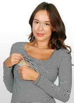 Black/white Striped Nursing Top