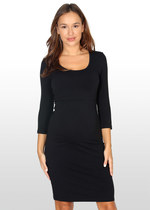 3/4 sleeve body-con maternity dress