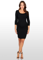 3/4 sleeve body-con dress
