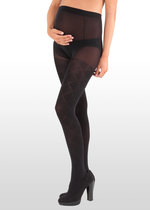 Diamond Pattern Black Maternity Tights