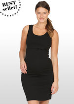 Black maternity singlet dress