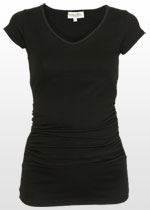 Ruched Black T-shirt