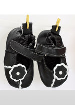 Girls' black & white shoes