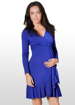 Dark azure wrap dress