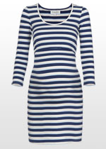 Blue striped nursing dress