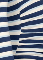 Blue-striped long sleeve top
