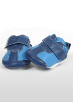 Blue & white baby boy's sneakers