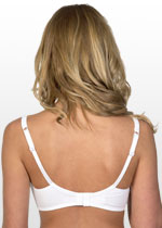 Soft cup nursing bra - white