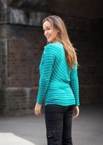 Emerald Striped Asymmetric Nursing Top