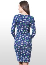 Modern Floral Print Nursing Dress