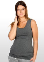 Charcoal maternity nursing singlet