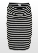 Grey & black striped skirt