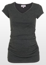 Ruched Charcoal T-shirt