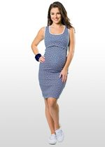 Hexagon Print Maternity & Nursing Dress