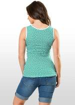 Hexagon Print Maternity & Nursing Top