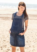 Maternity Denim Overall Dress