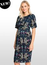 Navy Floral Maternity / Nursing Dress