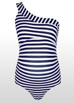 One-Shoulder Striped Swimsuit