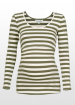Khaki-striped top