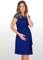 Dotted Lace Maternity Dress
