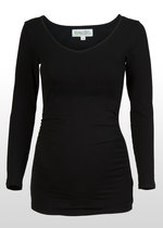 Long-Sleeve Black Maternity Top
