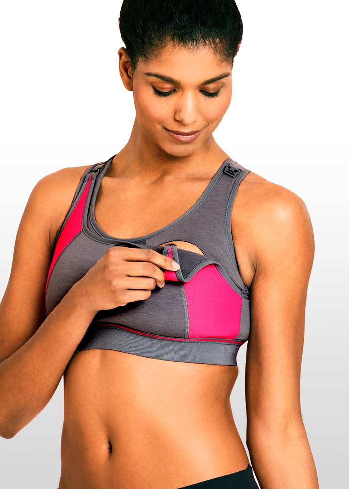 f341eee6248f6 This La Leche League maternity   nursing sports bra is a bestseller and now  comes in a pink (magenta) and grey colour. It has fantastic reviews and won  the ...