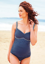 Nautical Stripe & Spot Maternity Tankini