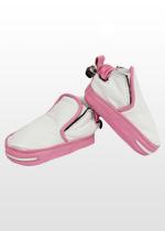 Girls white & pink sneaker