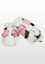 White & pink toddler sandals