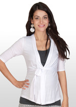 Pointelle Knit Summer Maternity Cardigan