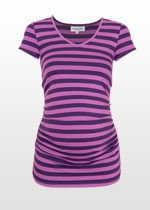 Purple-striped summer tshirt