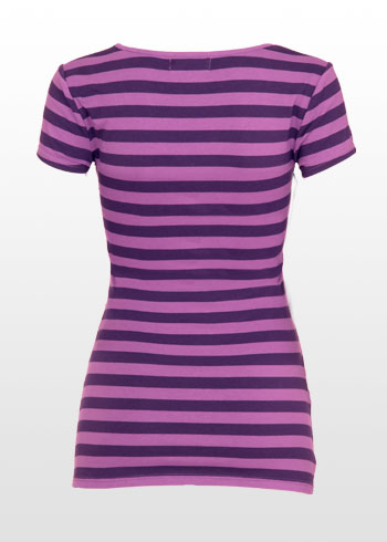 purple striped summer tshirt
