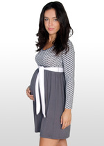 Scallop Print Maternity Dress
