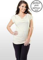 Silver Striped Maternity & Nursing Top