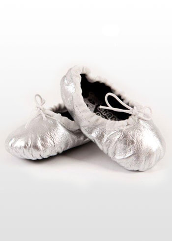 Girls' Silver Ballet Shoes