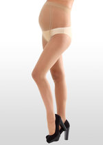 20-Denier Nude Maternity Tights
