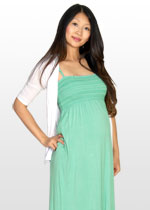 Minty smocked maxi dress