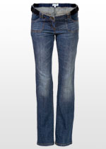 Straight dusty blue maternity jeans